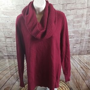 Womens Wool Cashmere Sweater with Scarf